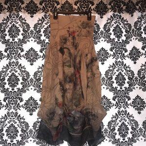 Vintage strapless Lapis dress One size M/L